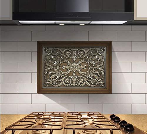 kitchen backsplash premium bronze metal resin mural medallion hand made textured tile free shipping