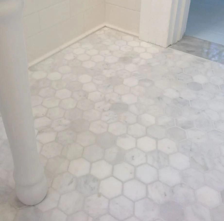 carrara white marble 4 inch hexagon mosaic tile honed for kitchen backsplash bathroom flooring shower surround dining room entryway corrido spa free