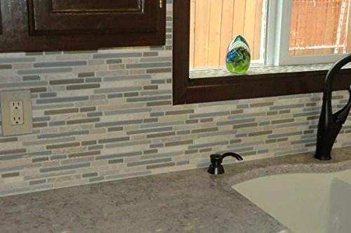 10 sq ft bliss spa stone and glass linear mosaic tiles bathroom walls kitchen backsplash free shipping