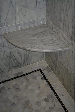 carrara marble polished 18 corner solid surface wall mount shower seat free shipping