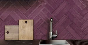 burgundy purple subway ceramic 3 x 12 hand made gloss finish wall tile kitchen and bath backsplash free shipping