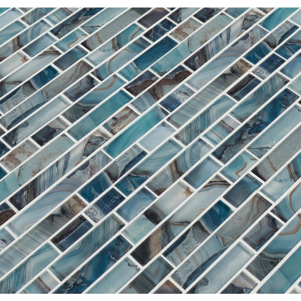 msi night sky interlocking 11 81 in x 11 81 in x 8mm glass mesh mounted mosaic tile free shipping
