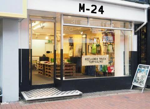 Eco Gift Guide M-24 store brighton, relcaimed tarpaulin bags brighton