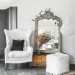 White Luxe Square Faux Fur Pouf Ottoman