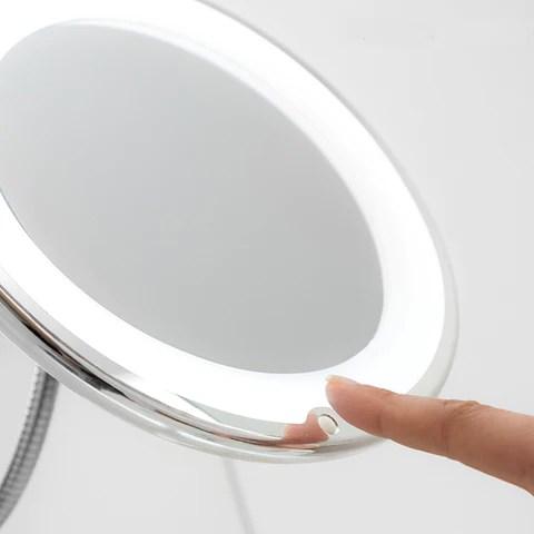 Miroir Grossissant A Led Avec Bras Flexible Et Ventouse Livraison Gr Mondoshopping Boutique