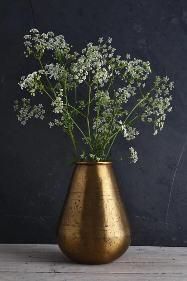 Tapered Brass Vase Nkuku Nami Brass Pot At Decorator S
