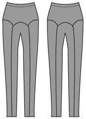 Papercut Ooh La Leggings line drawing