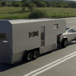 Tesla Cybertruck Trailer Render Is A Glimpse At A Futuristic Tiny Hous