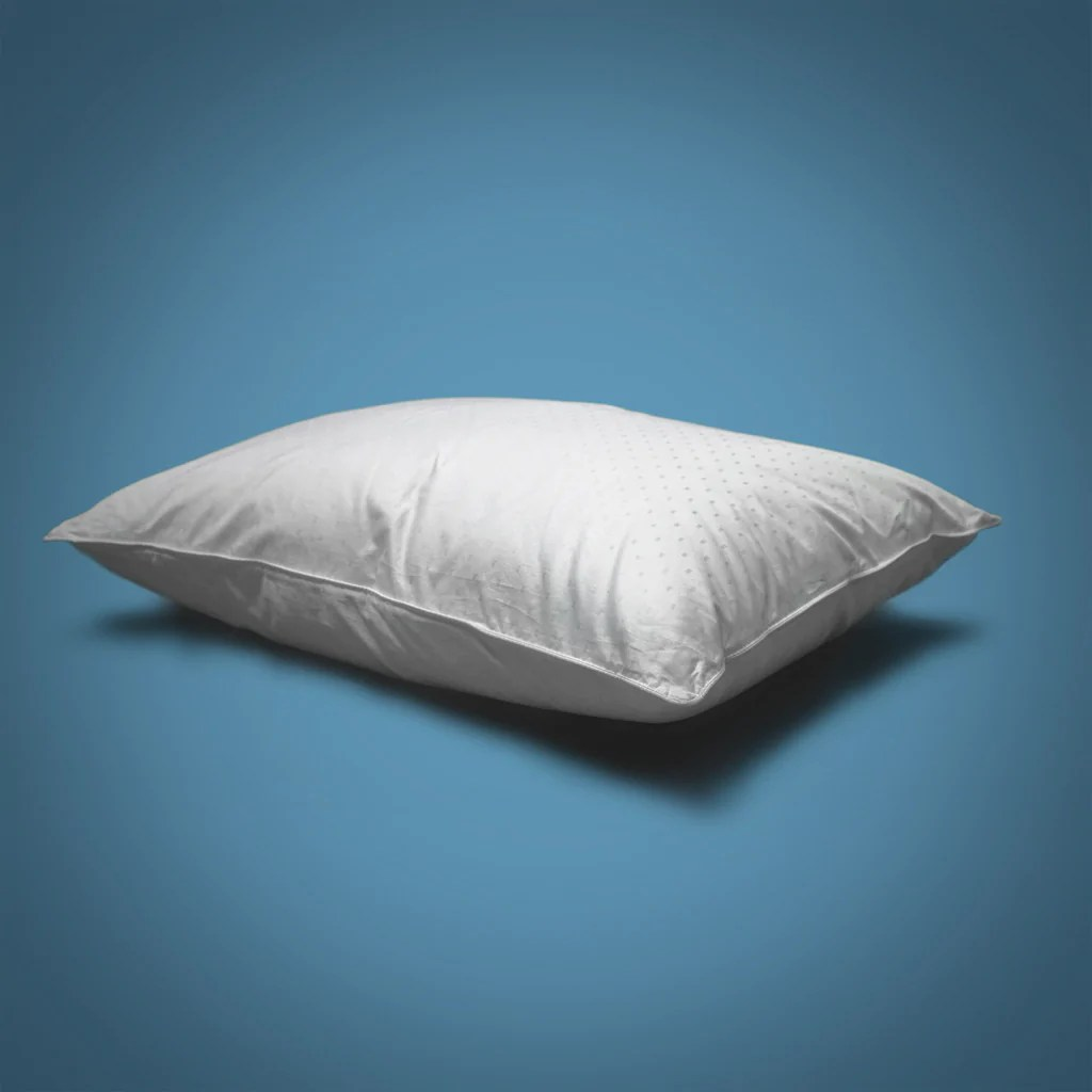 perfect white goose down pillow 50 50 fill medium plush support