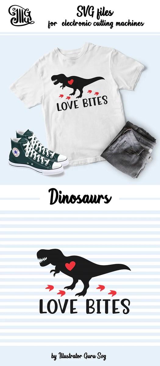 Download Love bites svg, girl dinosaur svg, dinosaur with bow svg ...