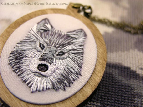 The Midwinter Wolf Pendant...Made To Order
