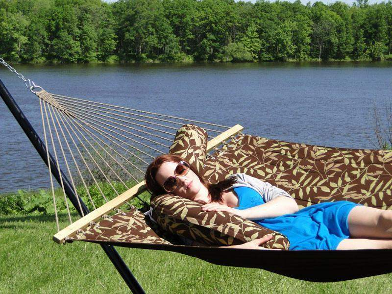 hamac de luxe sunbrella oreiller