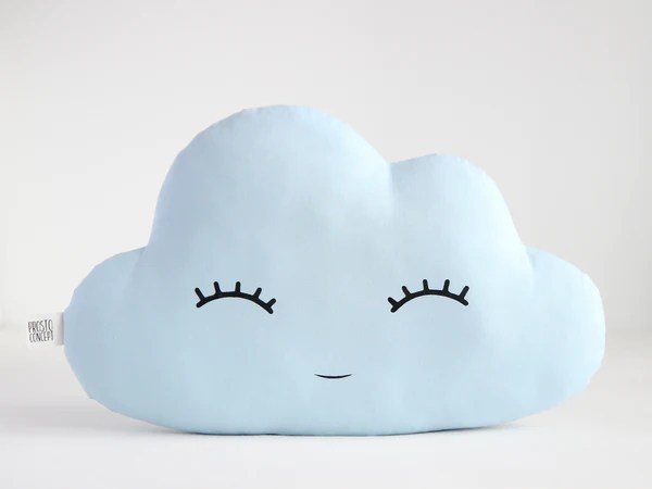 light blue cloud cushion