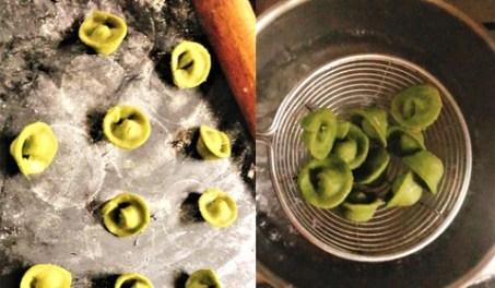 Tri-Colored Pasta Recipe - Tortellini shape and boil in water