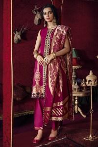 Cross Stitch Online Shab-e Arghavan-B Razia Sultana Jaquard Collection 2020