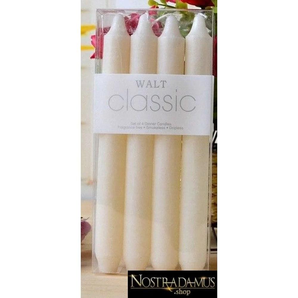 lot de 4 bougies blanche ou ivoire