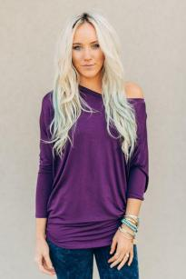 Plain + Simple Plum Dolman
