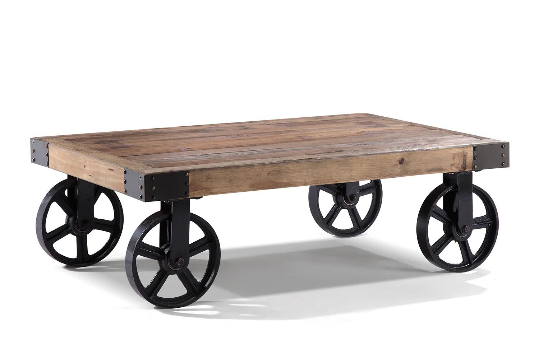 table basse industrielle a roulettes tb01