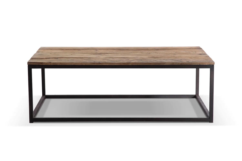 table basse industrielle en metal et bois tb02