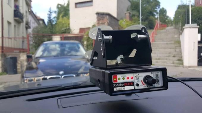 Dash mounted Radar detector - Detector, that poilice use to detect people using Radar Detectors in Virginia (Spectre Elite, a Radar Detector Detector)