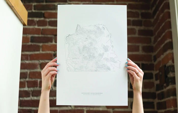 Topography Letterpress Print - by  Western Editions and Melissa Small