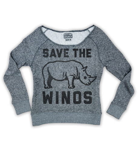Save the Winos Sweatshirt- perfect for wine lover.