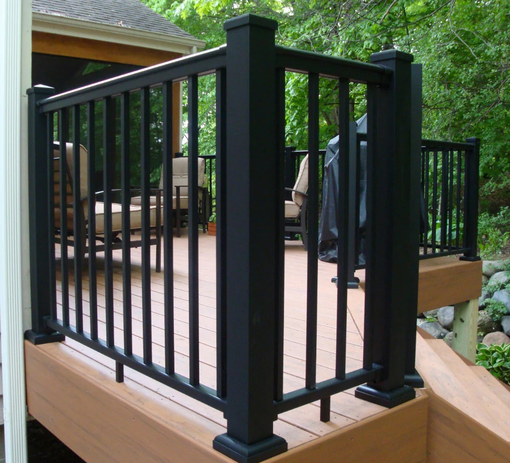 Aluminum Newel Post For Railing Kits – Worthington Millwork   Handrail To Newel Post   Craftsman Style   Indoor Railing   Wood   Gray Stain   White Oak