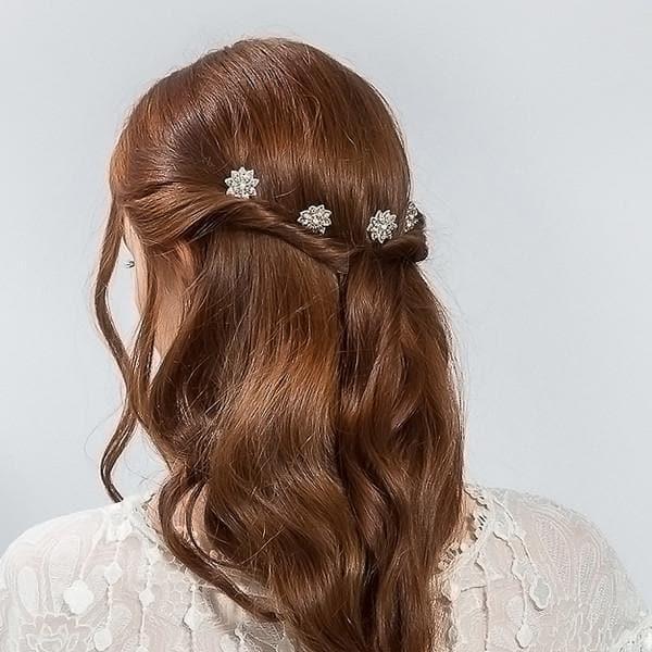 Buy Bridal Crystal Flower Pins Hair Accessory Emmy London