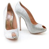 Candy 120mm Heel in Ivory Swarovski