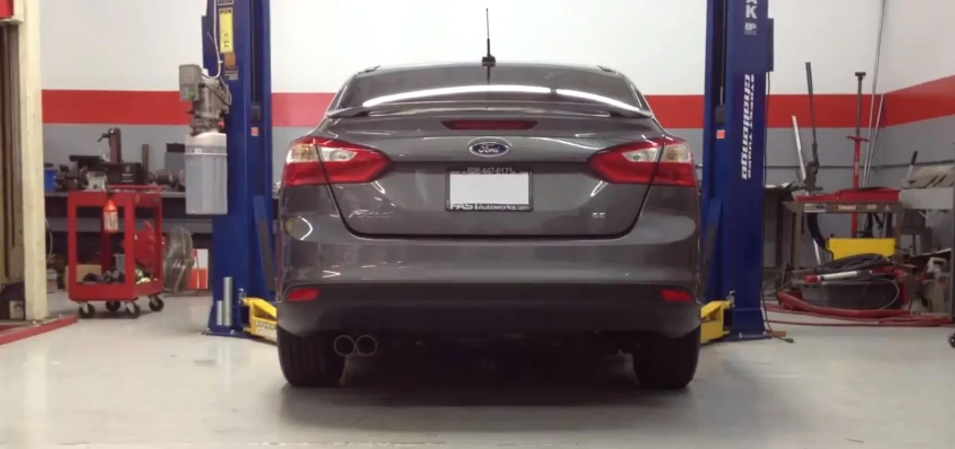 fswerks stainless steel race exhaust system ford focus tivct 2 0l 2012 2018 sedan