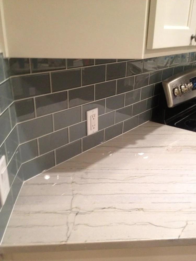 chimney smoke gray 3x6 glass subway tiles