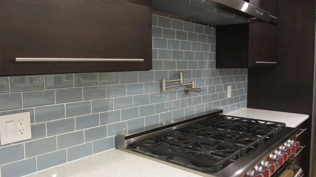 jasper blue gray 3x6 glass subway tiles
