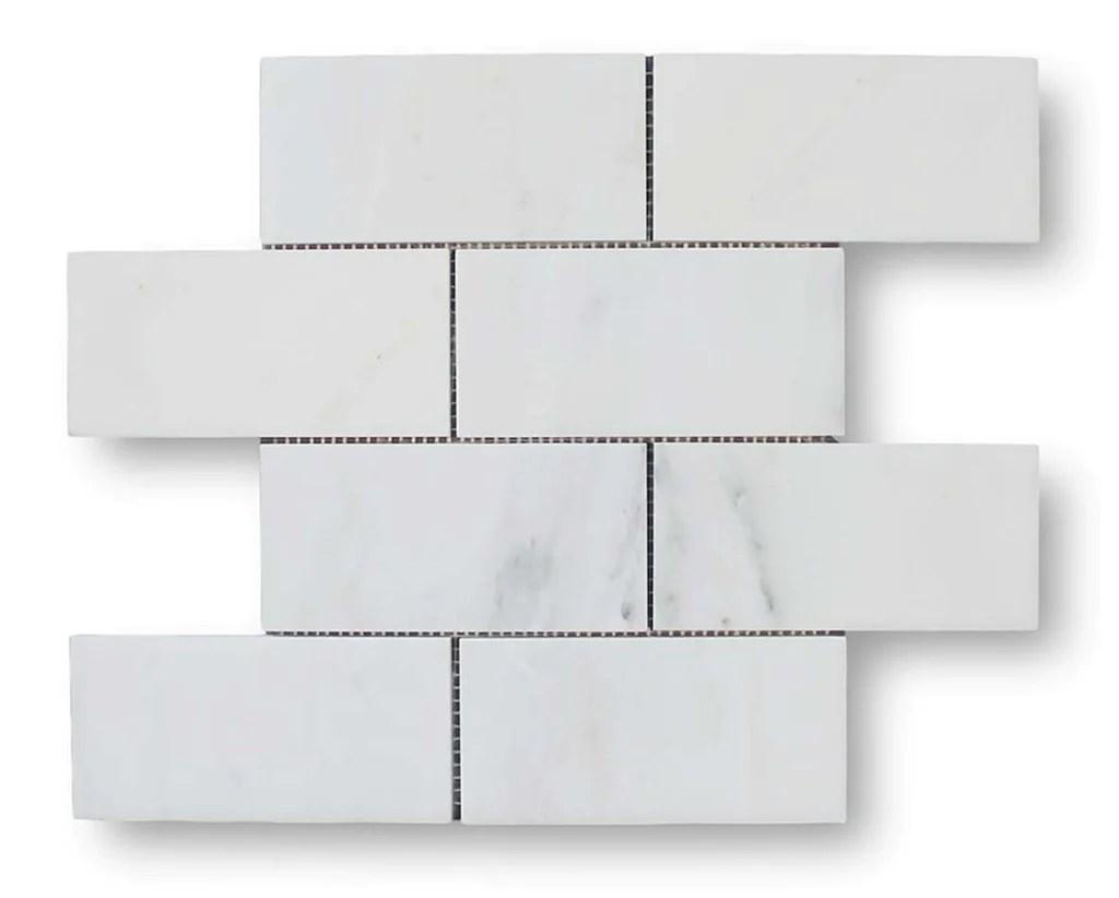 bianco carrara marble 3x6 subway tile