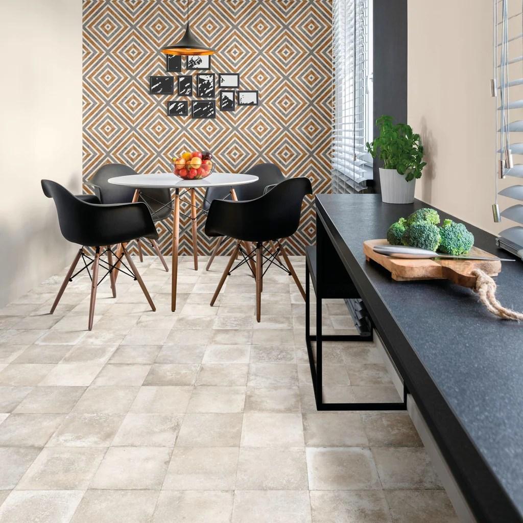mariner 900 8x8 glazed porcelain pattern floor tiles bianco