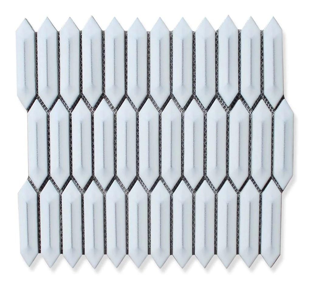 atlanta white picket mosaic tiles
