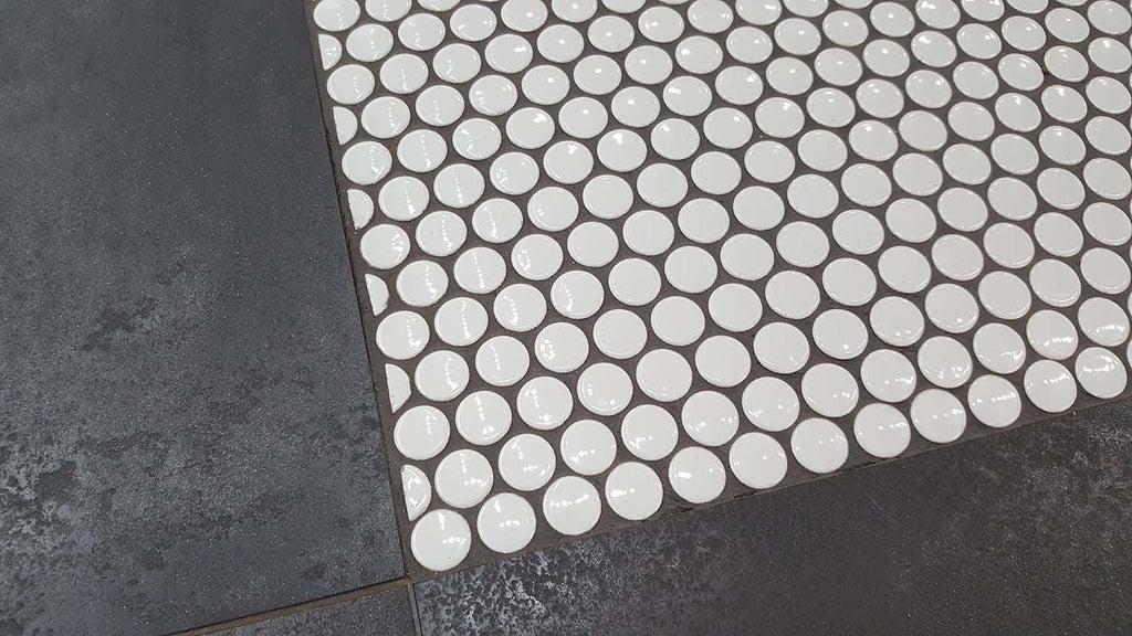 glazed porcelain penny round mosaic tiles 3 4 inch white
