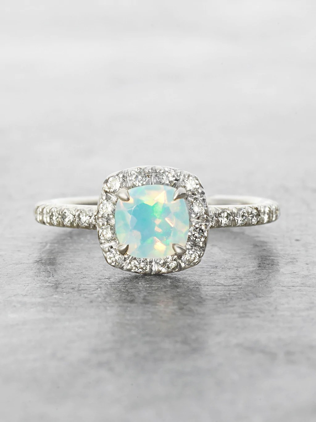 Heavenly Opal Halo Ring LUNESSA