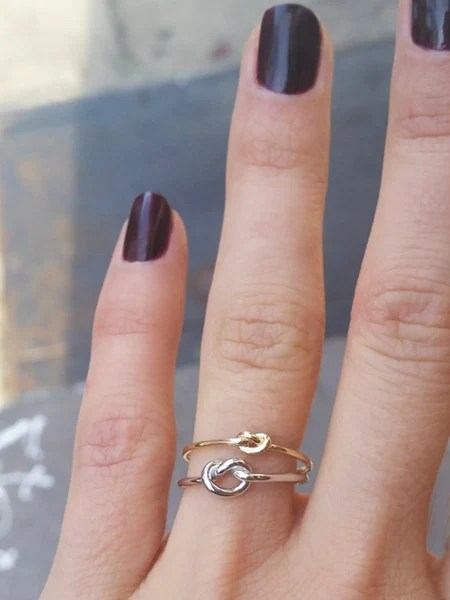 Yellow Gold Love Knot Ring