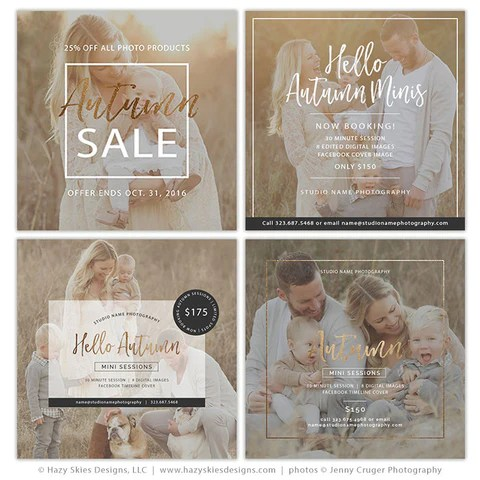 Mini Session Templates Hello Autumn Collection