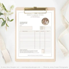 Photography Invoice Template Photoshop  Photography Receipt Template     Photography Invoice Template Photoshop  Photography Receipt Template      Photoshop Templates for Photographers  Photography Marketing Templates