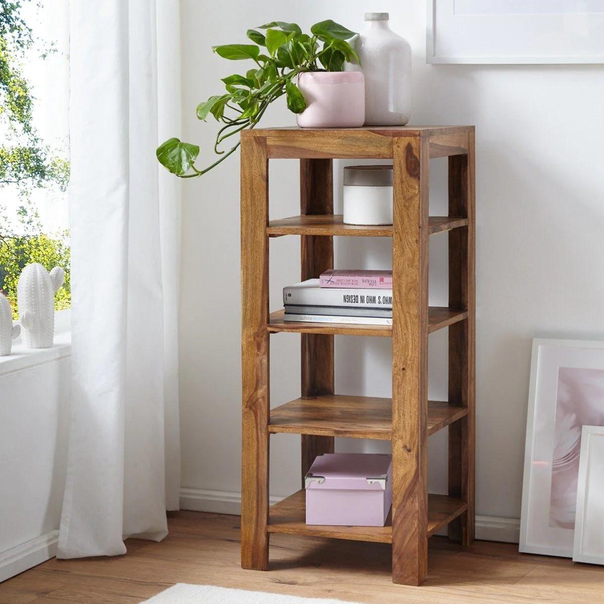 Solid Wood Charlie Corner Bookcase