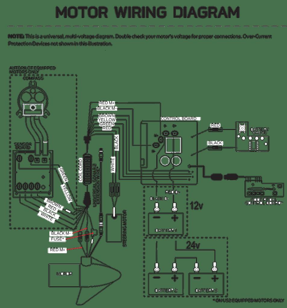Minn Kota 24 Volt Power Drive V2AP & RTSPAP Control Board 2884058   Northland Marine