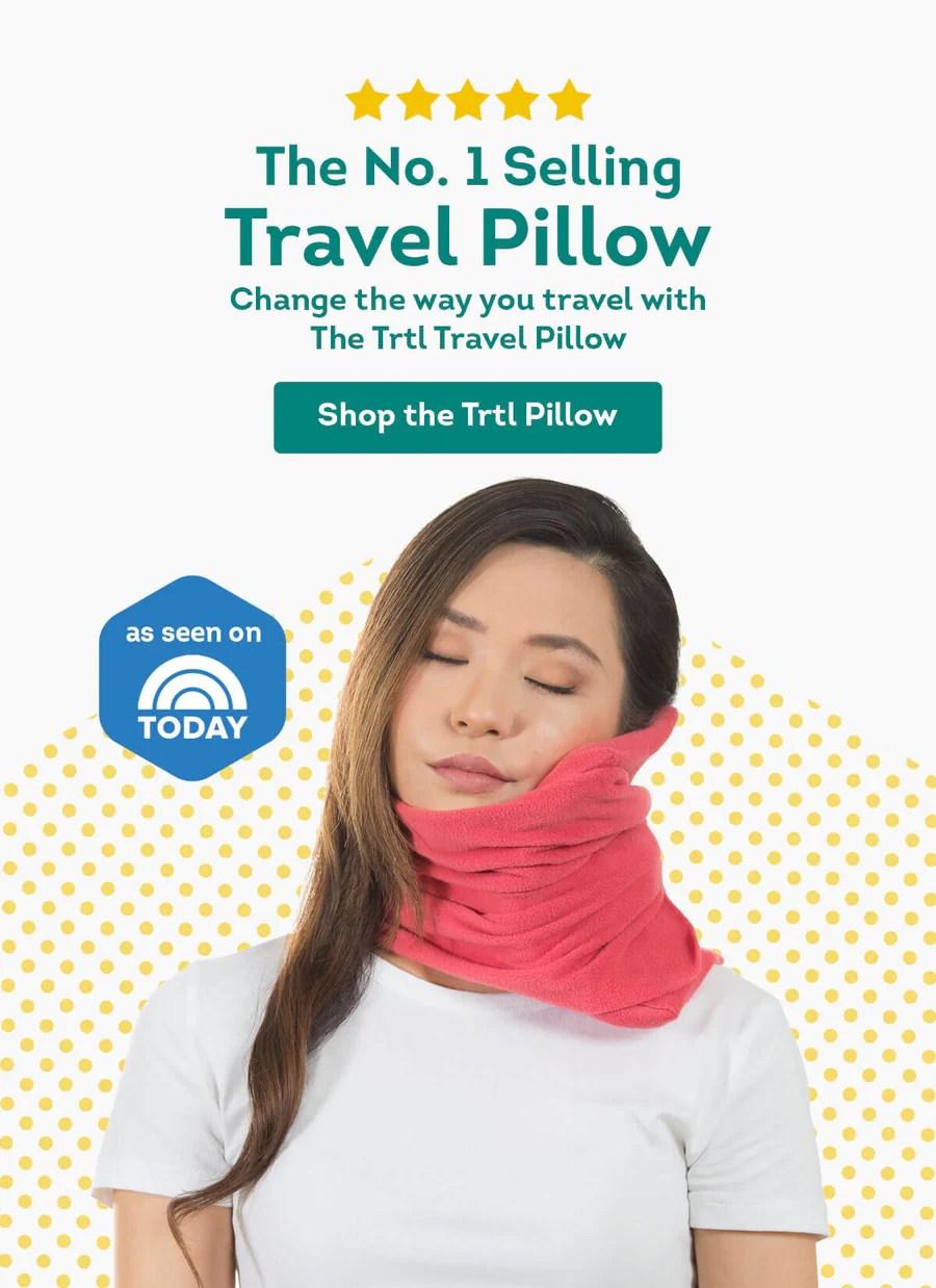 trtl travel pillow travelling pillow