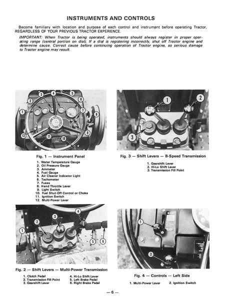 Massey Ferguson MF 255, MF 265 and MF 275 Tractors  Operator's Manual