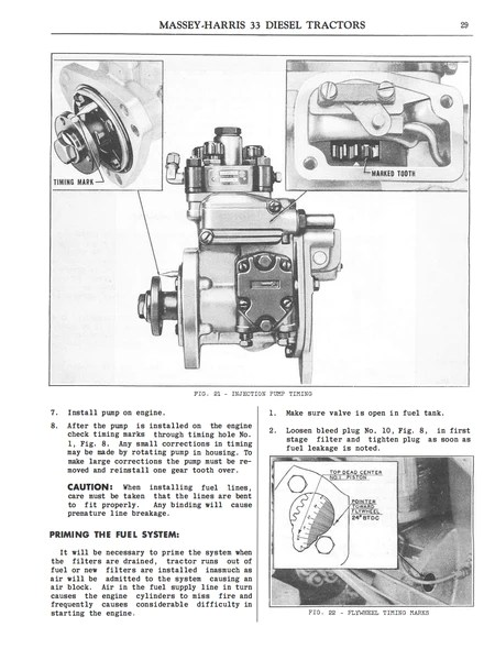 MasseyHarris 33 Diesel Tractors  Instructions for Care and Operation