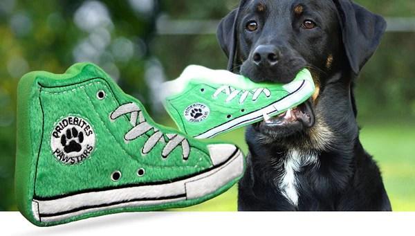 Sneaker Dog Toy Machine Washable Fleece That Floats
