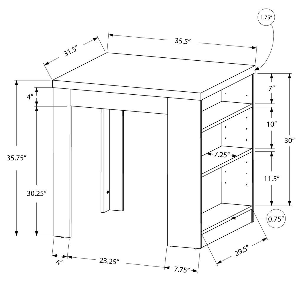 table a manger 32 x 36 blanc hauteur comptoir