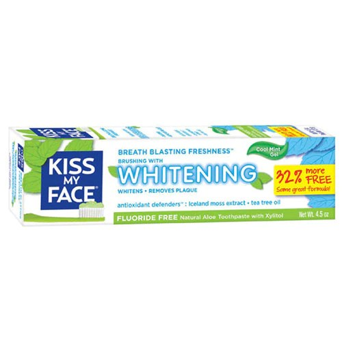 Fluoride Free Whitening Gel Toothpaste 4.5 oz by Kiss My Face