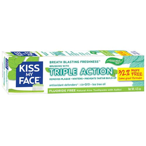 Fluoride Free Triple Action Gel Toothpaste 4.5 oz by Kiss My Face