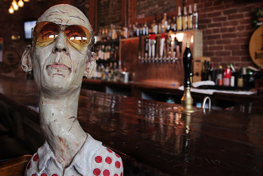Hunter S. Thompson sculpture